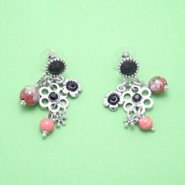 Boucles LOL Bijoux BFCSM004-Noir